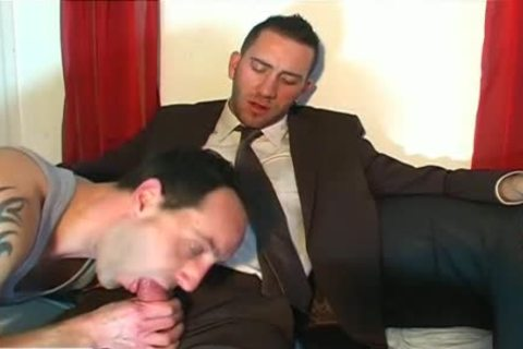 Full clip scene: A blameless Vendor chap Serviced His large cock By A chap!