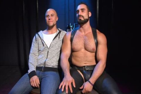 Muscle Bear spanking And spooge flow