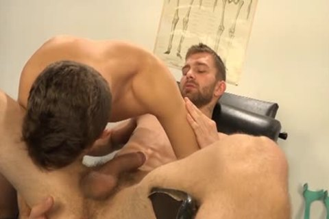 Muscle homosexual Dp With goo flow