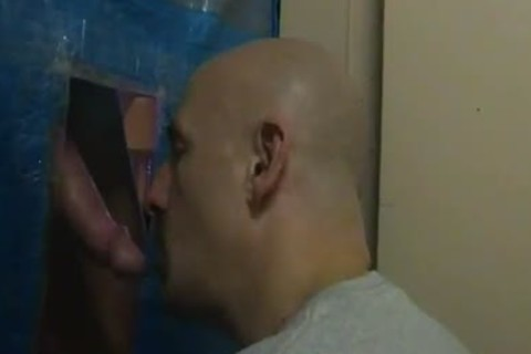 me gloryhole engulfing ...noisy end from the lad when that chap cums