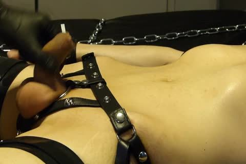 lad Comes Proudly With His recent Set Of Shiny Latex Restraints. that man Doesn't Know Until Late That Their Efficacy Will Be Checked With Painful Electro On The hips. As The Sub Has Not sperm For A Week, that man's Masturbated Several Times With A B