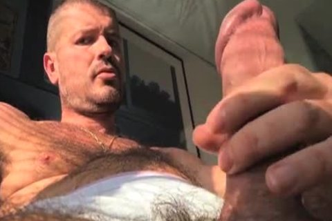 TIERY B. // PHOTO-PORNO-GRAPHER - Copyright / Climax - Masturb And Cumming Into jo-bag - nice-looking bushy man
