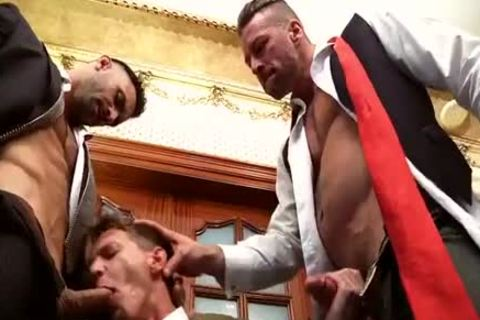 Muscle 3some In Suits