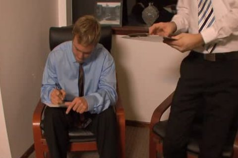 wicked homosexual males nailing In The Office
