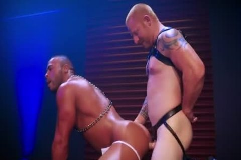 Leather Daddy Intensely Tops Sweaty ebon Hunk