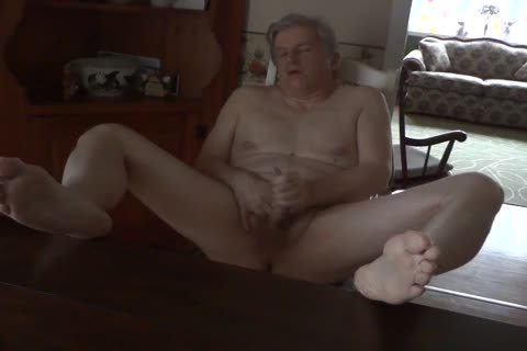 Daddy Masturbating bare In The Kitchen