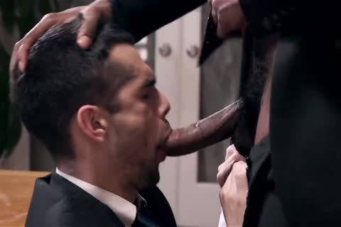 Giving Your dark Boss A oral And Getting Barebacked