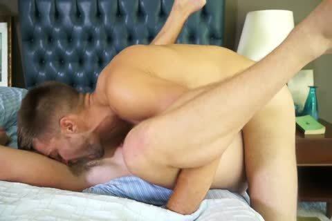 Randyblue.com Hung hirsute Daddy stud fucks A Load Of love juice Into gay chap