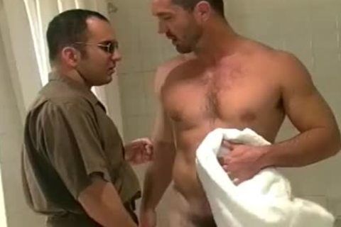 Buff dude gets dirty After A Squeaky Clean Shower