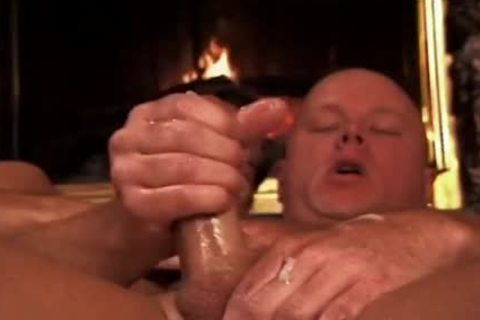 Bald lad Takes It Up The butthole By The Living Room Fire