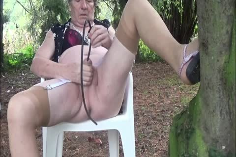 sheboy Outdoor Transvestite underware Nylon Sounding Urethra