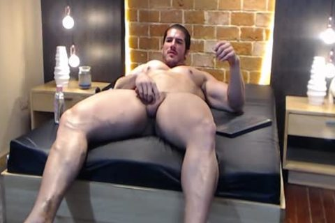 gigantic Latin Bodybuilder discharges A Load And Eats It!