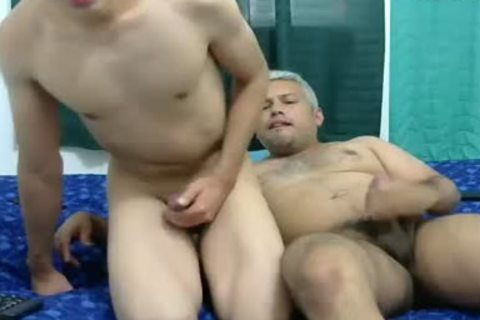 daddy Vs youthful Have butthole plowing On cam
